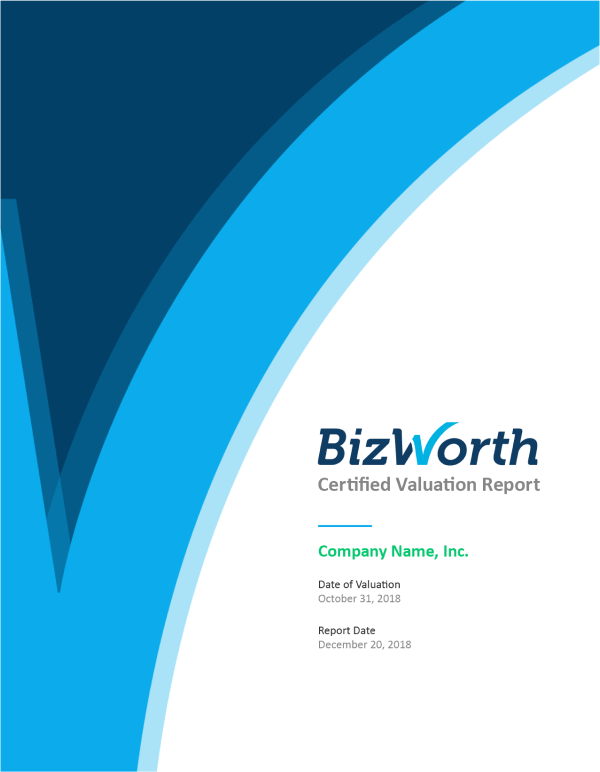 Sample Valuation Report from BizWorth